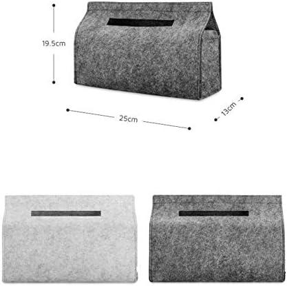 Demarkt Tissue Boxen Filz Taschentuchspender Moderner und Dekorativer Kosmetikt/ücherbox Taschentuchbox T/ücherbox Kosmetiktuchbox