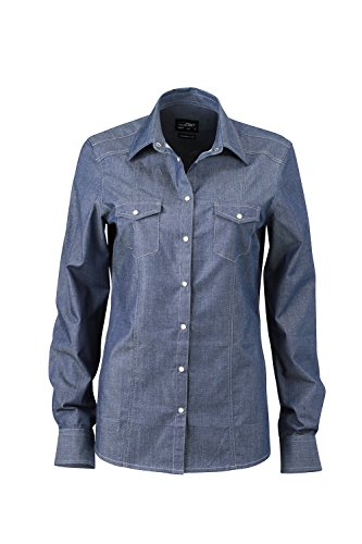 Blusa de jeans de moda para Mujer Blusa/ camisa 'Modern Fit' Ladies' Denim Blouse light-denim