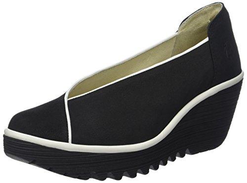 Cerrada Punta Tacón Offwhite London Yuca839fly Black con Negro Mujer para de Zapatos Fly x0BwU4