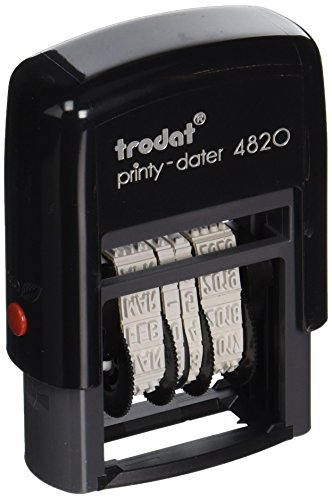 Trodat Economy Self-Inking Date Stamp, Stamp Impression Size: 3/8 x 1-1/4 Inches, Black (E4820) -