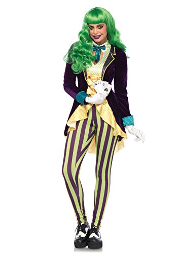 Leg Avenue Women's Evil Trickster Villain Costume, Multi, X-Small -