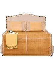 Letnia oddychająca mata bambusowa antypoślizgowa naturalna mata bambusowa mata chłodząca śpi mata dwustronna materac podwójny materac bambusowy fajny materac (rozmiar: 1.5x1.95m)
