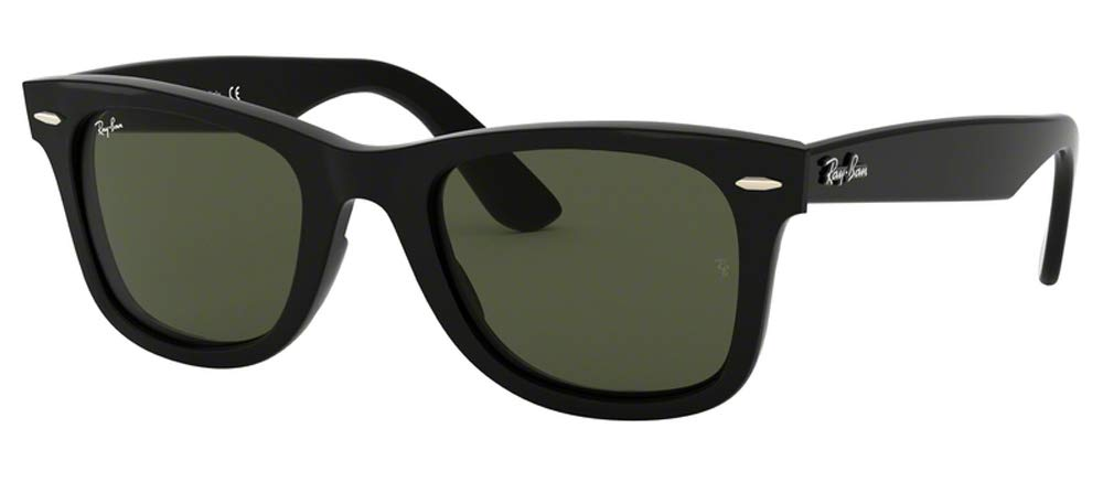 Ray-Ban RB4340 WAYFARER 601 50M Black/Green Sunglasses For Men For Women by Ray-Ban