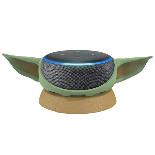 Echo Dot (3rd Gen) Charcoal with Mandalorian The Child stand