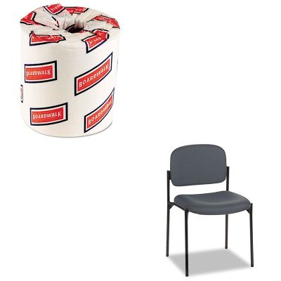 KITBSXVL606VA19BWK6180 - Value Kit - Basyx VL606 Stacking Armless Guest Chair (BSXVL606VA19) and White 2-Ply Toilet Tissue, 4.5quot; x 3quot; Sheet Size (BWK6180) - Basyx Stacking Chair