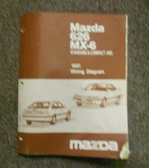 1991 Mazda 626 MX-6 Standard & Compact ABS Wiring Diagram Service Manual FACTORY