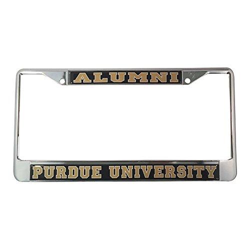 Purdue University License Plate Frame/Tag For Front Back of Car Officially Licensed (Alumni - Metal - Vintage Logo Frame