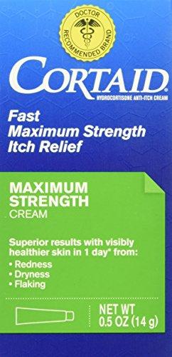 Cortaid 1% Cream (Cortaid Maximum Strength Cream, 1 Ounce)