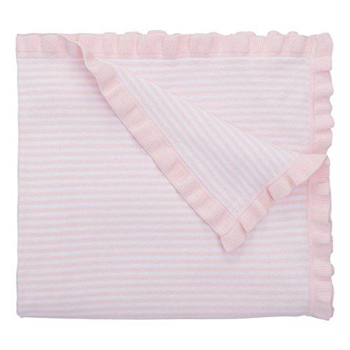 Elegant Baby 100% Cotton Tightly Knit Blanket, Mini Pink Stripes, 30