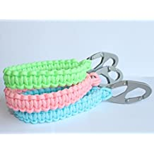 SENC Glow In The Dark Paracord Phone Retention Wristband with Carabiner - Yellow