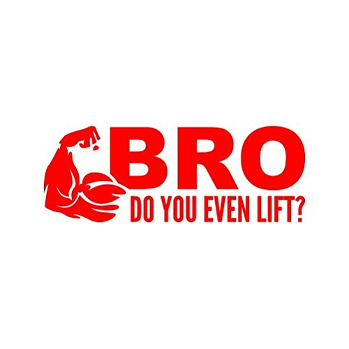 Flexing Bro Do You Event Lift Sticker - Decal - Die Cut - Red