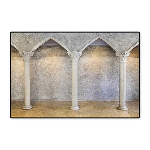 Pillar Door Mats for Home Antique Theme Classic Ancient Interior with Columns Digital Image Print Bath Mat for Bathroom Mat 16