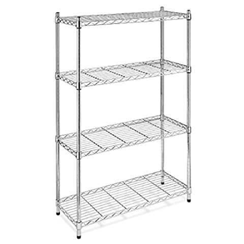 Best Chrome Storage Rack 4-Tier Organizer Kitchen Shelving Steel Wire Shelves (1 8 Snare Lock)