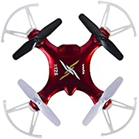 Tech RC Syma X12S Nano 6-Axis Gyro 4CH RC Quadcopter Mini Drone with Headless Mode - Red