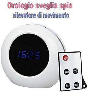 Reloj despertador - Cámara oculta - Grabación de audio y video - Controles DVR - Detector de movimiento - Microespía ambiental CW: Amazon.es: Bricolaje y ...