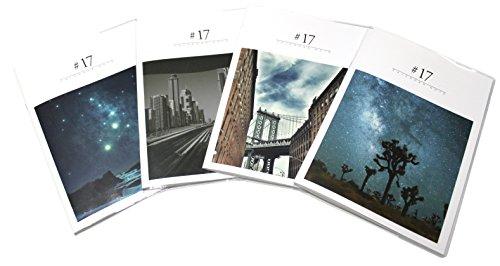Dagam 2017 Calendar Note 4 Pieces Monthly Calendar City And Star Design