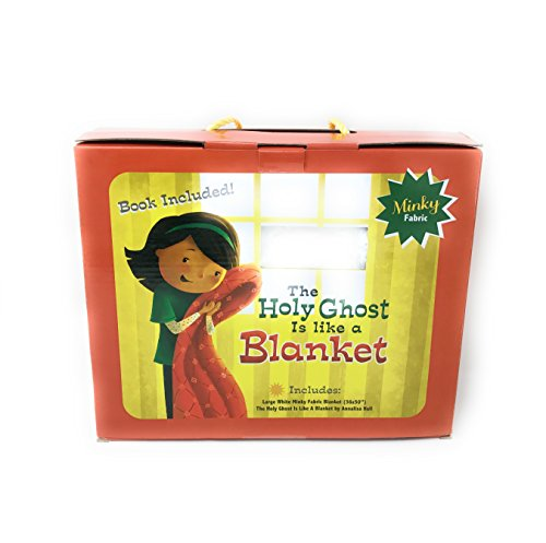 Pioneer Plus Holy Ghost is like a Blanket Gift Set Combo (Blanket and Book) - Minky blanket - Baptism Gift - Bedtime (God Keepsake)