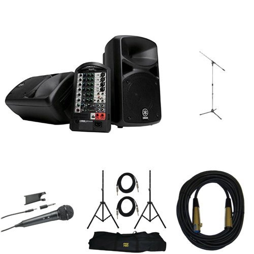 Yamaha stagepas 400i portable pa system with stands cable and mic accessories studio live for Yamaha stagepas 400i price
