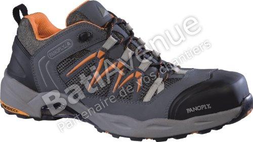 Delta plus calzado - Zapato piel nubuck+malla 3d gris/naranja talla 47