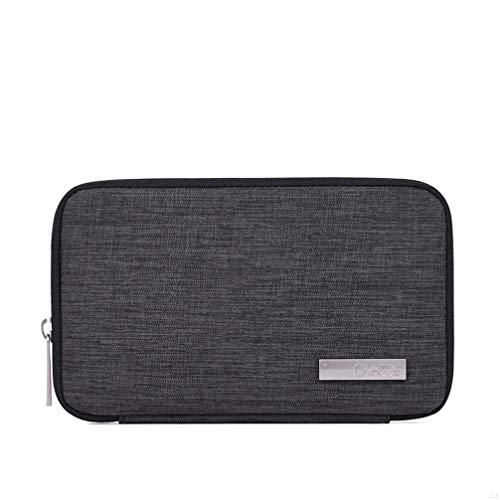 Price comparison product image SLBGADIEME Waterproof Cable Travel Storage Bag for Electronic Case IPad Line Earphone Power Ban USB SD Cards Chargers Gadget Accessory Organizer Carry Pouch Dark Grey GD65