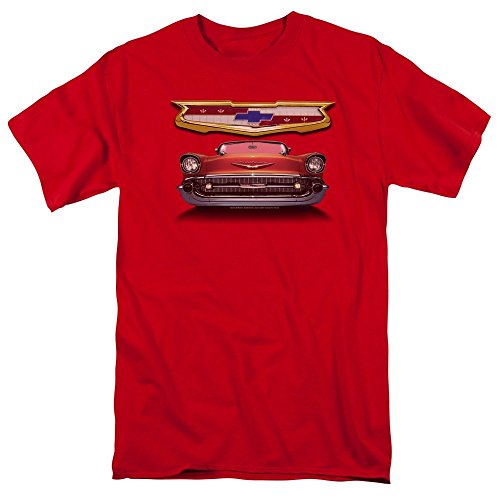 Sons of Gotham Chevy - 1957 Bel Air Grille Adult Regular Fit T-Shirt 3XL (1957 Grille)