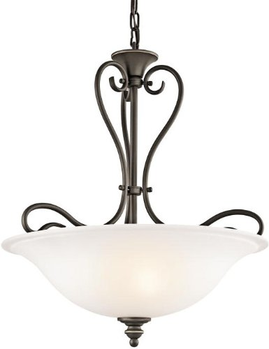 (Kichler 42903OZ Tanglewood Pendant 3-Light, Olde Bronze)
