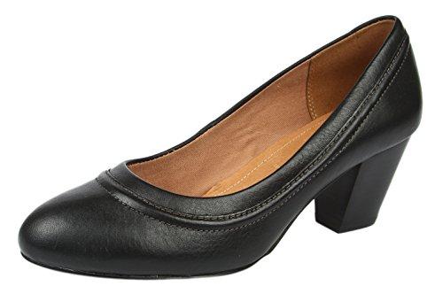 Clarks Womens Colette Dawn Black Leather Pumps - 5 UK
