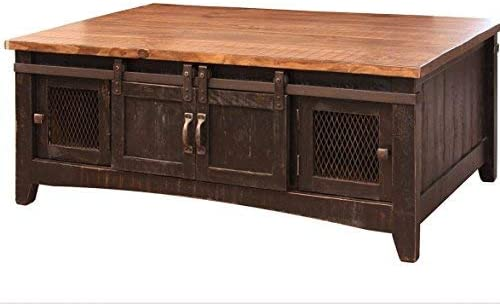 Crafters and Weavers Greenview Black Solid Pine Coffee Table