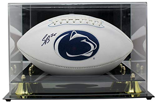 - Saquon Barkley Signed Penn State Nittany Lions Logo Football w/Acrylic Case - JSA Certified - Autographed College Footballs