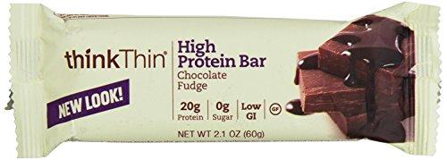 ThinkThin Protein Bars Chocolate Fudge, 2.1 Oz, 10 Count