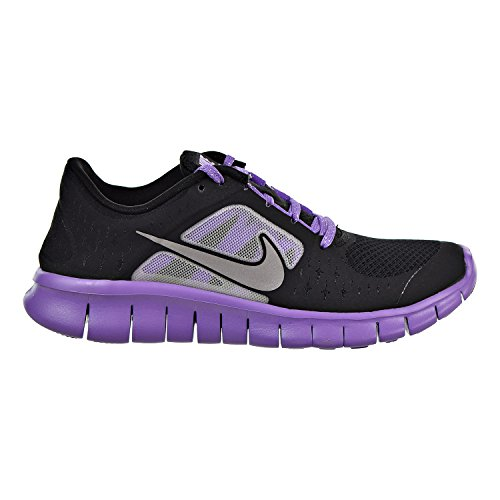 Cheap NIKE Free Run 3 Big Kids' Running Shoes Black/Reflect Silver-Iris 512098-002 (5 M US)