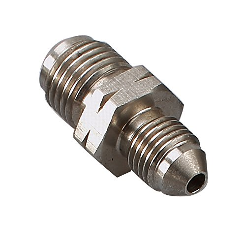 Stainless Steel Male Flare -3 AN to M12x1.0 mm Metric Brake Hose Line Fitting Adapter