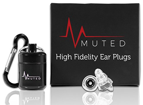 MUTED Ear Plugs: Made from Soft Silicone. Hearing Protection Ideal for...