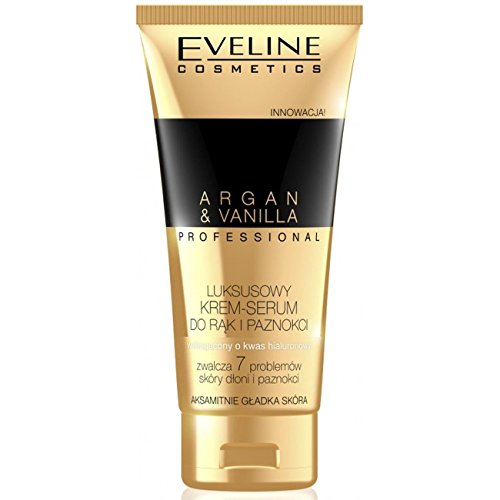 Eveline Professional Luxury Hands & Nails Cream-Serum Argan & Vanilla, 3.38 Fluid Ounce
