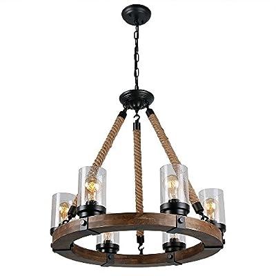 Anmytek C0008 Retro Rustic Antique Ceiling Lamp, Black