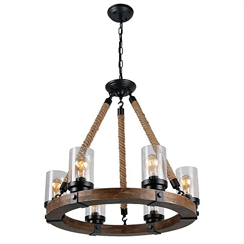 round metal chandelier anmytek wooden chandelier with clear glass shade 2013