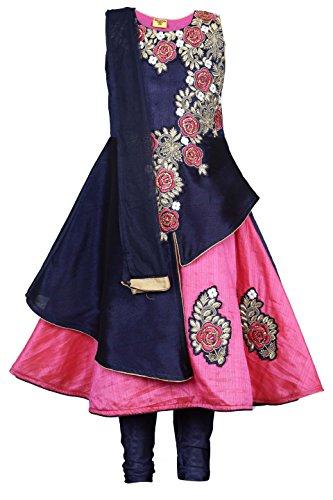 Ashwini Girls Embroidery Salwar Suit (Pink, 4-5 Years)