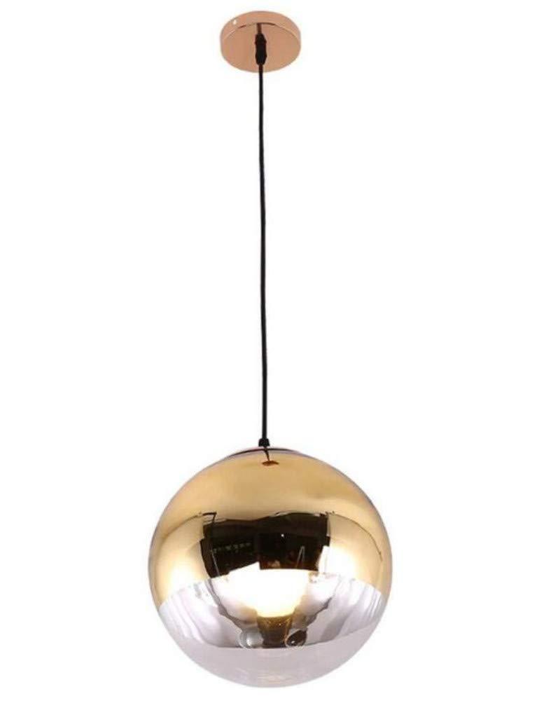 Kronleuchter Deckenleuchte Led-Lichtkronleuchter Pendelleuchte Spiegel Reflektierende Einfache Moderne Einzelkopf Eisen Pendelleuchte Restaurant Bar E27 [Energieklasse A ++]
