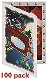 Santa Sleigh Photo Folder Frame (Pack of 100) 4x6 Slide-in Insert