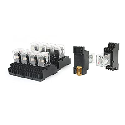 10Pcs AC 110V Coil 35mm DIN Rail Mount 4PDT Plug-in Power Relay HH54PL