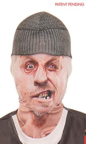 Faux Real Unisex-Adult's Toothless Man Mask, White, OSFM ()