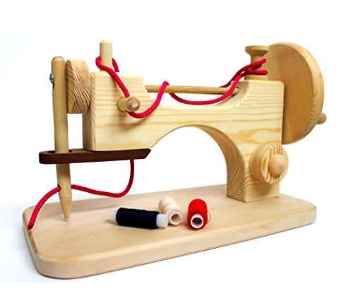Amazon.com: Wooden sewing machine handmade educational toy ...