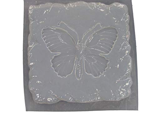 Stone Look Butterfly Stepping Stone Concrete Plaster Mold ()