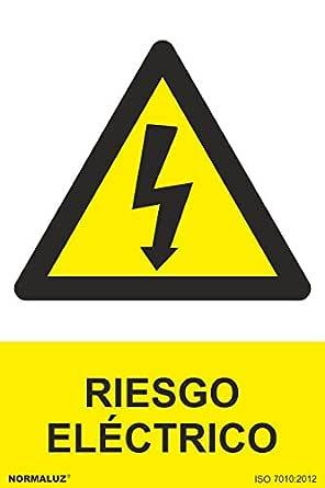Normaluz RD36607 - Señal Adhesiva Riesgo Eléctrico Adhesivo de Vinilo 10x15 cm