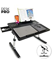 Cooper Mega Table [XXL Folding Laptop Desk] for Bed & Sofa | Couch Table, Bed Desk, Laptop, Writing, Study, Eating Storage, Reading Stand