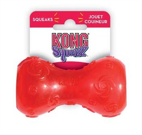 KONG Squeezz Dumbbell Dog Toy, Small, Colors Vary, My Pet Supplies