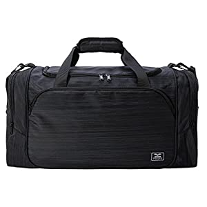 "MIER 21"" Sports Gym Bag with Wet Pocket Travel Duffel Bag for Men and Women, Black"