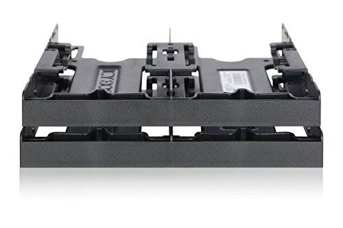 Icy Dock MB344SP 5.25 Carrier panel panel bahía disco duro - Drive bay panel (146 mm, 155,5 mm, 40,2 mm, 98 g) SSD Bracket Quad