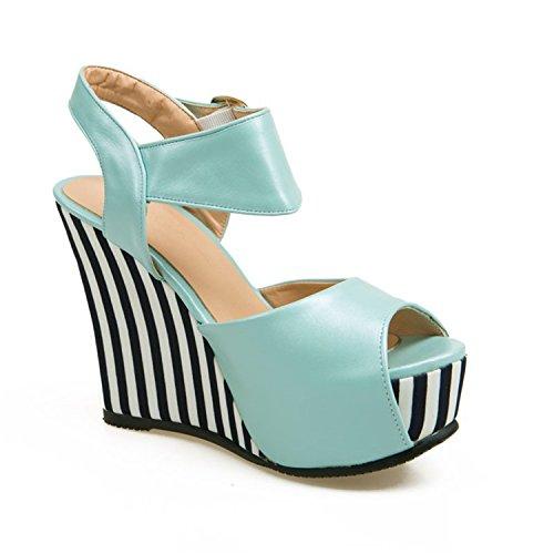 Solme 2018 Strap Wedges Shoes Peep Toe Buckle Strap 2018 Soft Pu Leather Platform Casual Summer Shoes Woman Fashion Ladies... B07D9J6GR2 Parent 675a7c