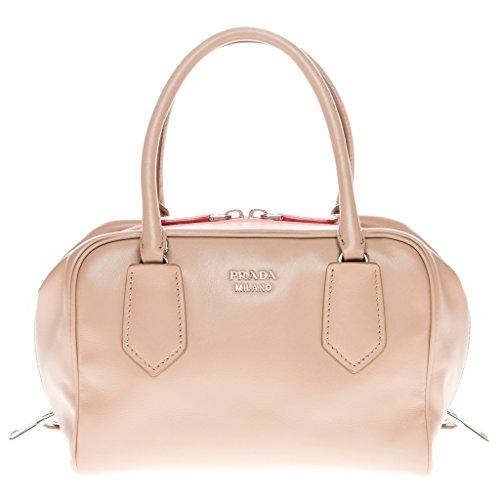 Prada Women's Small Soft Calf Inside Bag Beige Pink